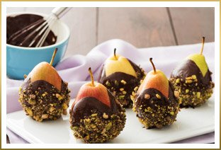 Chocolate-Dipped Holiday Pears