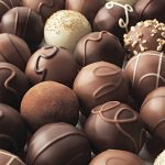 Milk, dark and white chocolate truffles