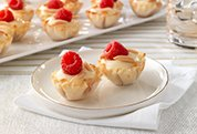 White Chocolate-Raspberry Tartlets