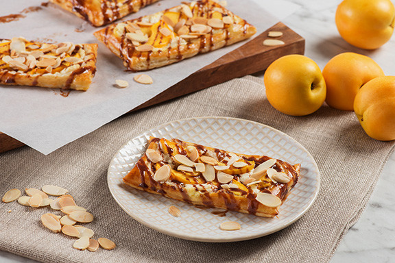 Goat Cheese and Apricot Tarts with Chocolate and Almonds