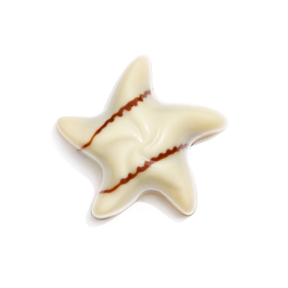 White Chocolate Raspberry Star Piece |GODIVA