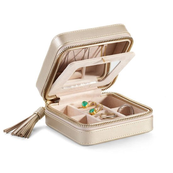Leather Jewelry Case with Dark Chocolate Assortment Gift Box, 27 pcs image number null