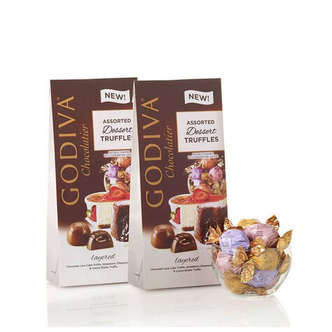 Wrapped Assorted Dessert Chocolate Truffles, Large Bags, Set of 2, 19 pc. each