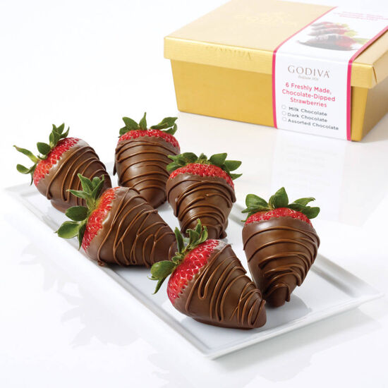 Milk Chocolate Covered Strawberries, Half Dozen  image number null