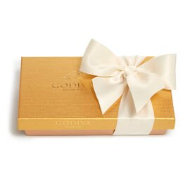 Assorted Chocolate Gold Gift Box, Ivory Ribbon, 8 pc.