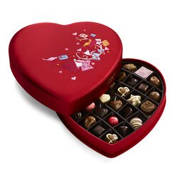 Valentine's Day Fabric Heart Chocolate Gift Box, 37 pc.