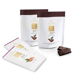 Pure 85% Dark Chocolate Bar & Coffee Mini Bar Gift Set