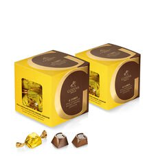Milk Chocolate Caramel G Cube Box, Set of 2, 22 pcs. each