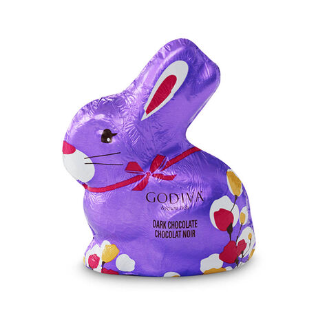 Foil-Wrapped Dark Chocolate Easter Bunny