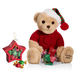 Holiday Plush Bear with  Star Ornament