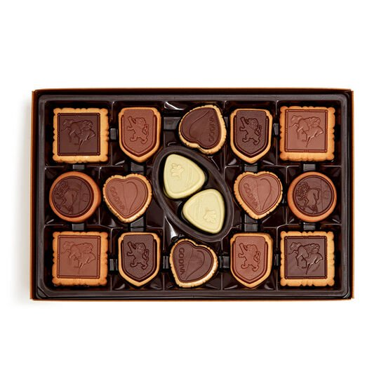 Small Treats Journal & Assorted Chocolate Biscuit Gift Box, 32 pcs. image number null