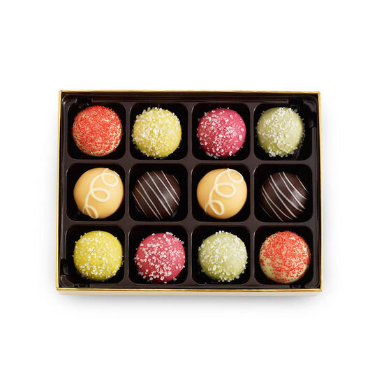 12 pc. Assorted Smoothie & Sorbet Truffle Box image number null