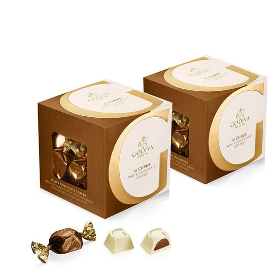 White Chocolate Coffee G Cube Box, Set of 2, 22 pcs. each image number null