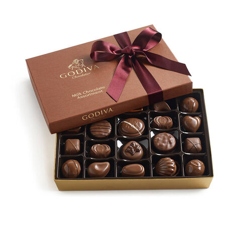 Assorted Milk Chocolate Gift Box, Wine Ribbon, 22 pc.