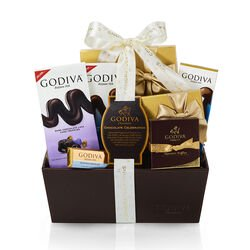 Chocolate Celebration Gift Basket, Congratulations Ribbon