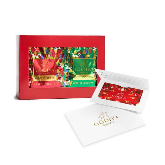 $25 GODIVA Holiday Gift Card and Cocoa Variety Pack image number null