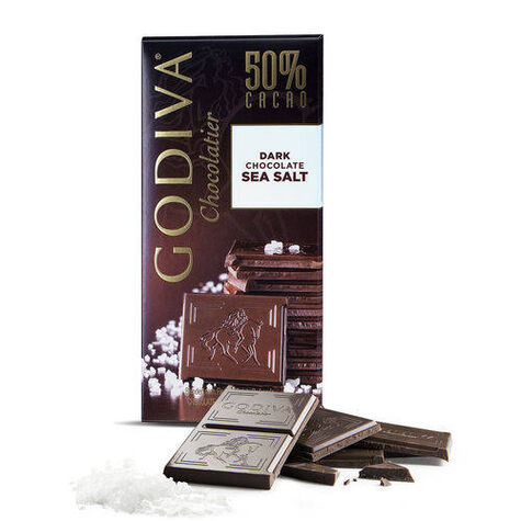 Large 50% Dark Chocolate Sea Salt Bar, Set of 20