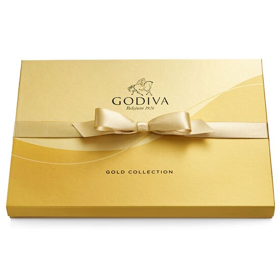 Assorted Chocolate Gold Gift Box, Gold Ribbon, 36 pc. image number null