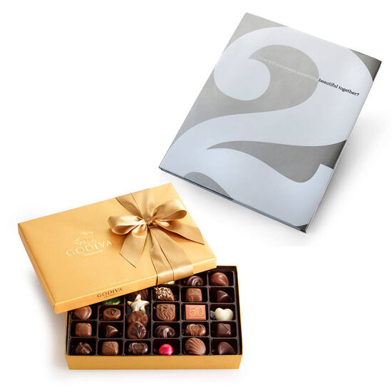 Create Something Beautiful Book & Assorted Chocolate Gold Gift Box, 36 pcs. image number null