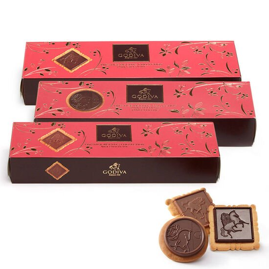 Assorted Chocolate Biscuits, Set of 3, 12 pc. each image number null