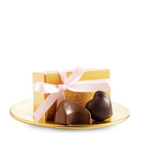 Assorted Chocolate Gold Favor, Pink Ribbon, 2 pc.