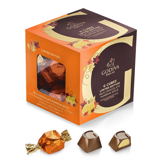 Milk Chocolate Pumpkin Spice G Cube Box, Limited Edition, 22 pcs. image number null