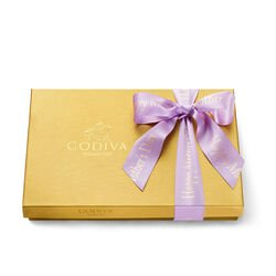 Mother's Day Assorted Chocolate Gold Gift Box, Orchid Ribbon, 36 pc.