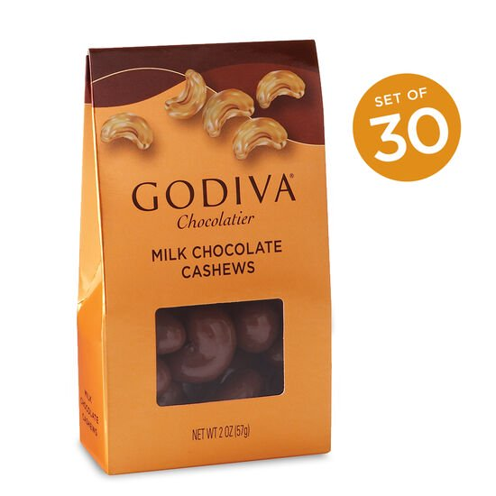 Milk Chocolate Covered Whole Cashews, Set of 30 image number null