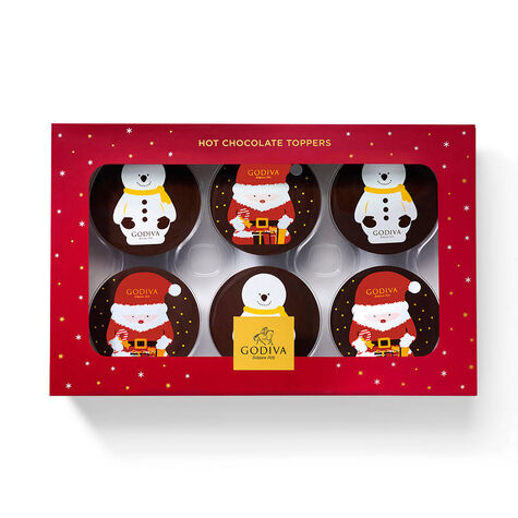 6-pc Hot Cocoa Toppers with Dark Chocolate Hot Cocoa