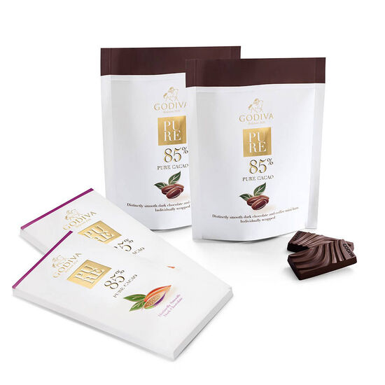 Pure 85% Dark Chocolate Bar & Coffee Mini Bar Gift Set image number null