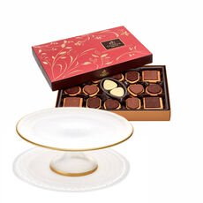 Dessert Pedestal with Assorted Chocolate Biscuit Box, 32 pc.