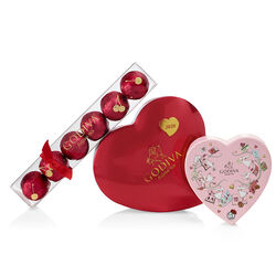 Valentine's Day Chocolate Novelties Gift Set with Collectors' Edition Heart Tin