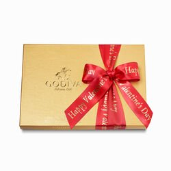 Happy Valentine's Day Assorted Chocolate Gold Gift Box, 36 pc.