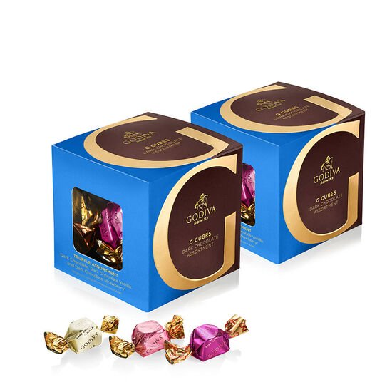 Dark Chocolate Assortment G Cube Box, Set of 2, 22 pcs. each image number null