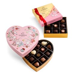Valentine's Day Heart Gift Box and Assorted Chocolate Gift Box