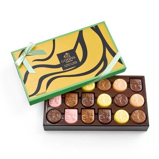 Limited Edition Assorted Chocolate Gold Icons Gift Box, 18 pc. image number null