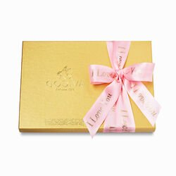 Assorted Chocolate Gold Gift Box, I Love You Ribbon, 36 pc.