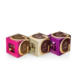 Milk, Dark and Vanilla Chocolate G Cube Boxes, Set of 3, 22 pcs. each