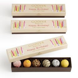 Happy Birthday Cake Chocolate Truffle Flight, Set of 3