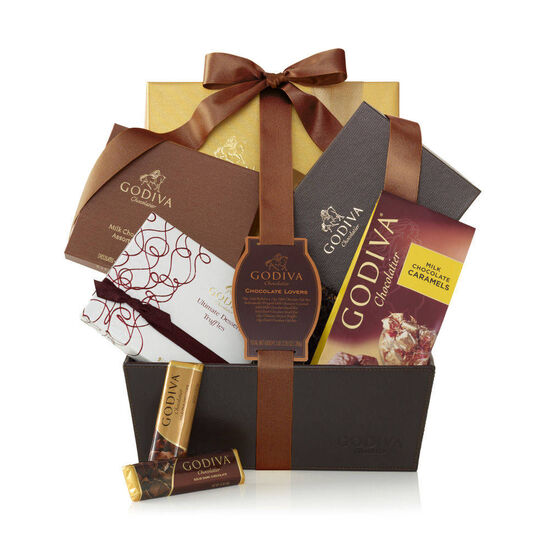 Chocolate Lover's Basket, Classic Ribbon image number null