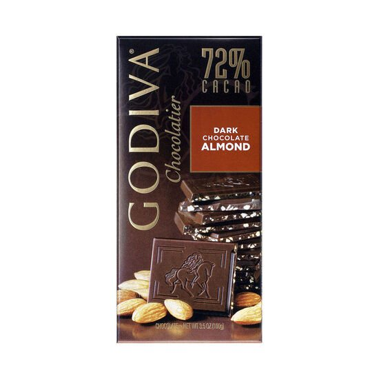 Large 72% Dark Chocolate with Almond Bar Set of 20 image number null