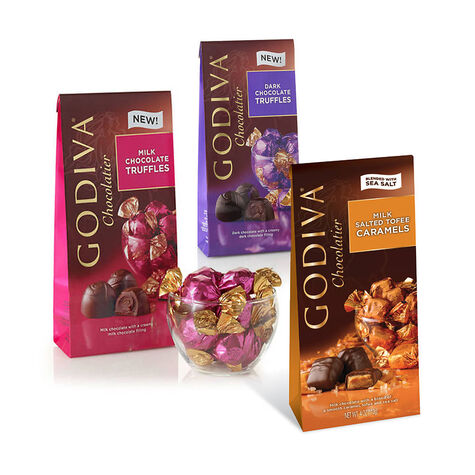 Assorted Wrapped Chocolate Truffles, Set of 3