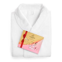 White Robe with Valentine's Day Assorted Chocolate Gift Box, 20 pc.