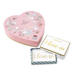I Love Us Tray with Valentine's Day Chocolate Paper Heart Gift Box, 14 pc.
