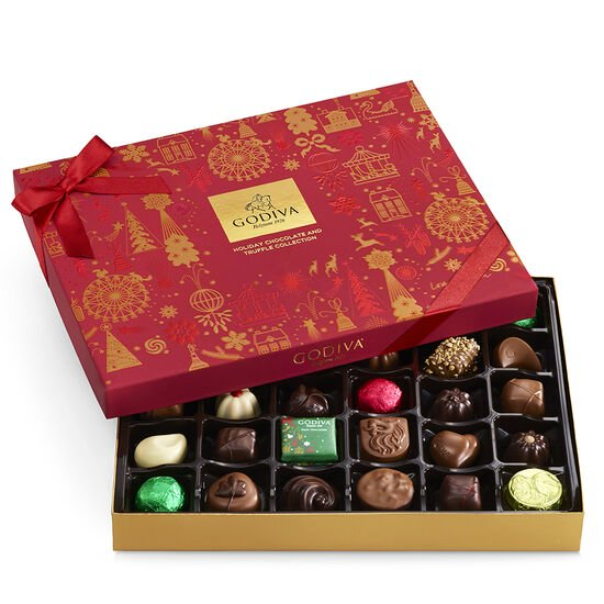 Assorted Chocolate Holiday Gift Box, 32 pc. image number null