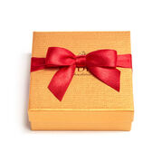 Assorted Chocolate Gold Favor, Red Ribbon, 4 pc.
