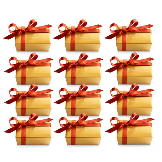 Assorted Chocolate Gold Favor, Fall Ribbon, Set of 12, 2 pc. each image number null