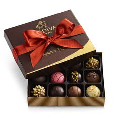 Signature Chocolate Truffles Gift Box, Fall Ribbon, 12 pc.