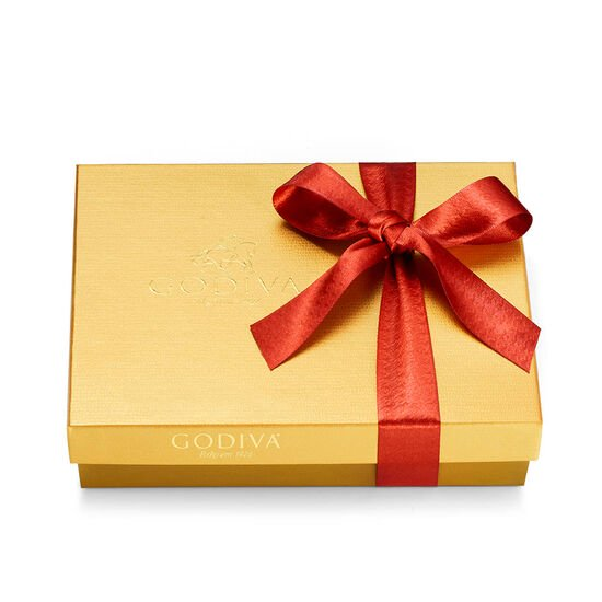 Assorted Chocolate Gold Gift Box, Fall Ribbon, 19 pc. image number null