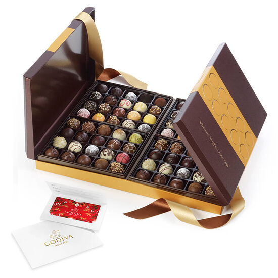 $100 GODIVA Holiday Gift Card & Ultimate Chocolate Truffle Collection, 80 pc. image number null